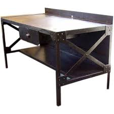 French Industrial Desk Early 20thc French Industrial Steel Tall Desk At 1stdibs