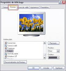 personnalisation du bureau personnaliser l affichage du bureau et de windows xp