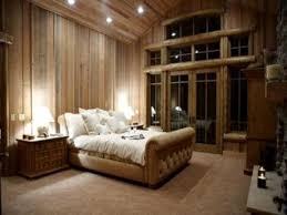 cabin bedroom decorating ideas with dark wood luxury cabin bedroom