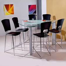 triangle pub table set holland house bay front 7 piece triangle glass pub table and pvc