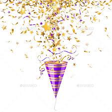 party confetti party popper with confetti by vicgmyr graphicriver