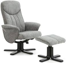 Fabric Recliner Armchair Buy Serene Stavern Steel Fabric Recliner Chair Online Cfs Uk