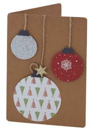 5 easy christmas cards for beginners christmas baubles