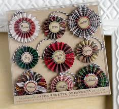 handmade paper rosette holiday ornaments paper rosettes card