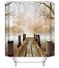 Fishing Shower Curtain Nature Print Novelty Shower Curtains Ebay