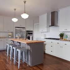 butchers block kitchen island gray kitchen island with butcher block top transitional kitchen