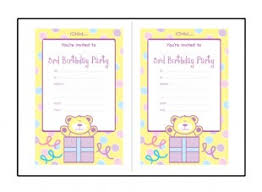 birthday party invitation templates for 3 year old 3rd birthday