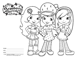 good strawberry shortcake coloring 42 additional