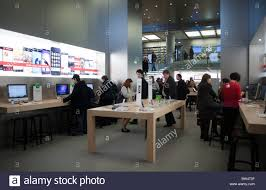 Apple Store Paris Paris France French Shopping Center General View Inside Apple