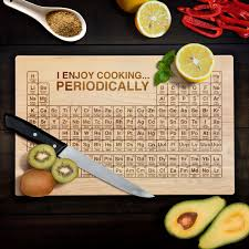 periodic table cutting board geek nerd i enjoy cooking