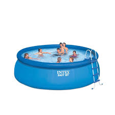 Intex Swim Center Family Pool Intex 15 Ft X 48 In Round Easy Set Above Ground Pool 28167eh