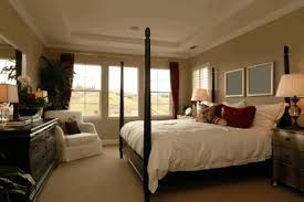 Black Painted Walls Bedroom Country Bed Room Simple Wooden Frame With Black Painting Round