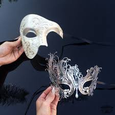 masquerade mask for couples his hers couples masquerade mask from 4everstore on etsy
