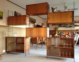 room dividers shelves mid century vintage ladderax string style modular shelving unit