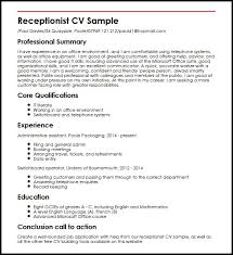Resume Duties Examples by Cv Examples Administration Jobs