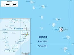 map of tuvalu physical map of tuvalu ezilon maps
