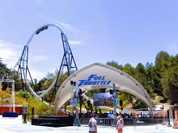 How Far Is Six Flags Thrillography Six Flags Magic Mountain My Bodacious Ace Coaster