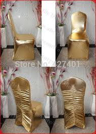 Gold Spandex Chair Covers Aliexpress Com Buy Gold Color Metal Spandex Back Ruffled Spandex