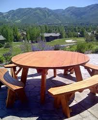 Free Plans Round Wood Picnic Table by 380 Best Picnic Tables Images On Pinterest Picnics Picnic