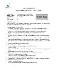 Front Desk Position Resume Front Desk Job Description Job Description Assistant Front Office