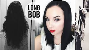 how i dye my hair blue black u0026 new cut long bob haircut youtube