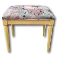 ethan allen stool upscale consignment