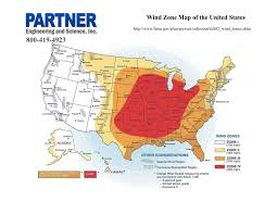 Zone Map Usa by Wind Zone Map