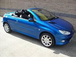 blue peugeot for sale used peugeot 206 2004 petrol 2 0 se 2dr convertible blue manual for