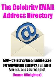 celebrity home addresses the celebrity email address directory 500 celebrity email