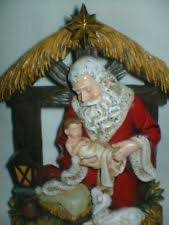 santa and baby jesus picture kneeling santa ebay