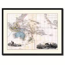 oceania australia new zealand vintage antique map wall art bedroom