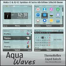 udjo42 themes for nokia c3 aqua waves theme for nokia c3 x2 01 themereflex