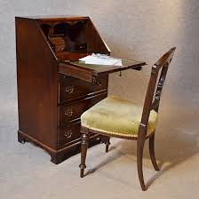 bureau writing desk antique bureau writing desk mahogany leather top edwardian