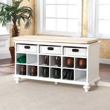 White Entryway Table by Unique Storage Containers Entryway Bench With Blue Wall White