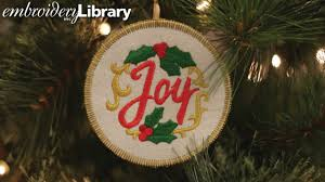 embroidered christmas embroidered christmas ornaments in the hoop