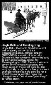 jingle bells used to be a thanksgiving song halfapage
