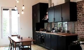 cuisine noir et jaune décoration cuisine et brique 33 montpellier cuisine