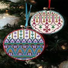 best cross stitch christmas ornaments products on wanelo