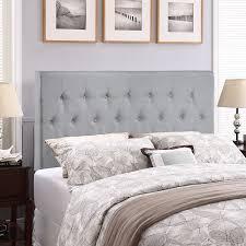 gray upholstered headboard grey fabric upholstered headboard