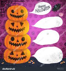 halloween background tiling halloween background pumpkins bubble speech bat stock illustration