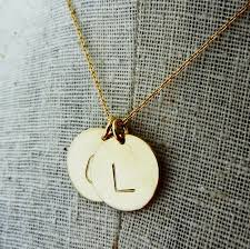 necklace with letter charms images Gold initial necklace two letter charms necklace hand jpg