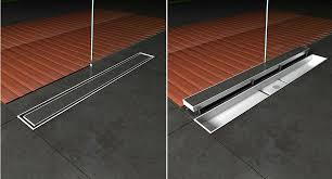 flowing fast tile insert floor drain stainless steel floor trap