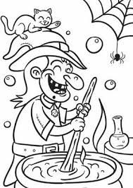 witch stew halloween coloring coloring kids
