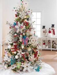 tree decorating idea large ornaments country