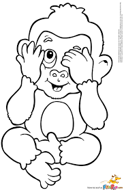 coloring page baby monkey pages printable for kids free