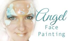 angel face painting step by step youtube