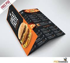 fast food menu trifold brochure free psd psdfreebies com