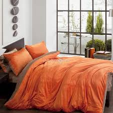 What Size Is King Size Duvet Cover Solid Two Color Orange And Brown Velvet 4 Piece Queen King Size