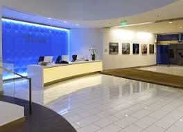 Illuminated Reception Desk Delta Seatac Sky Club Eos Light Panel Systems Quality Led Flat