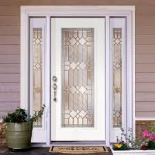 full glass entry door feather river doors mission pointe 64 in x 80 in smooth prehung